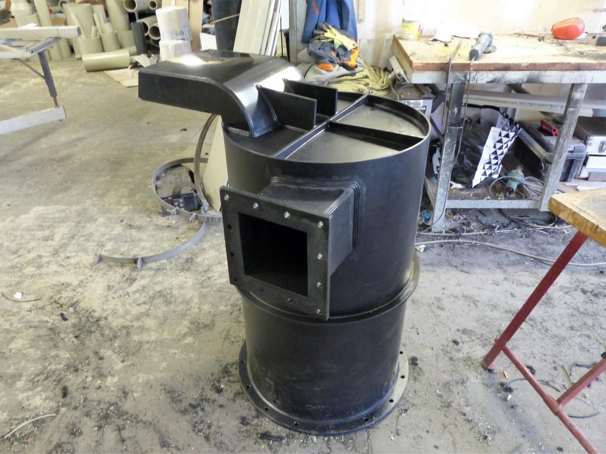 Confection d'un pot pour ventilation