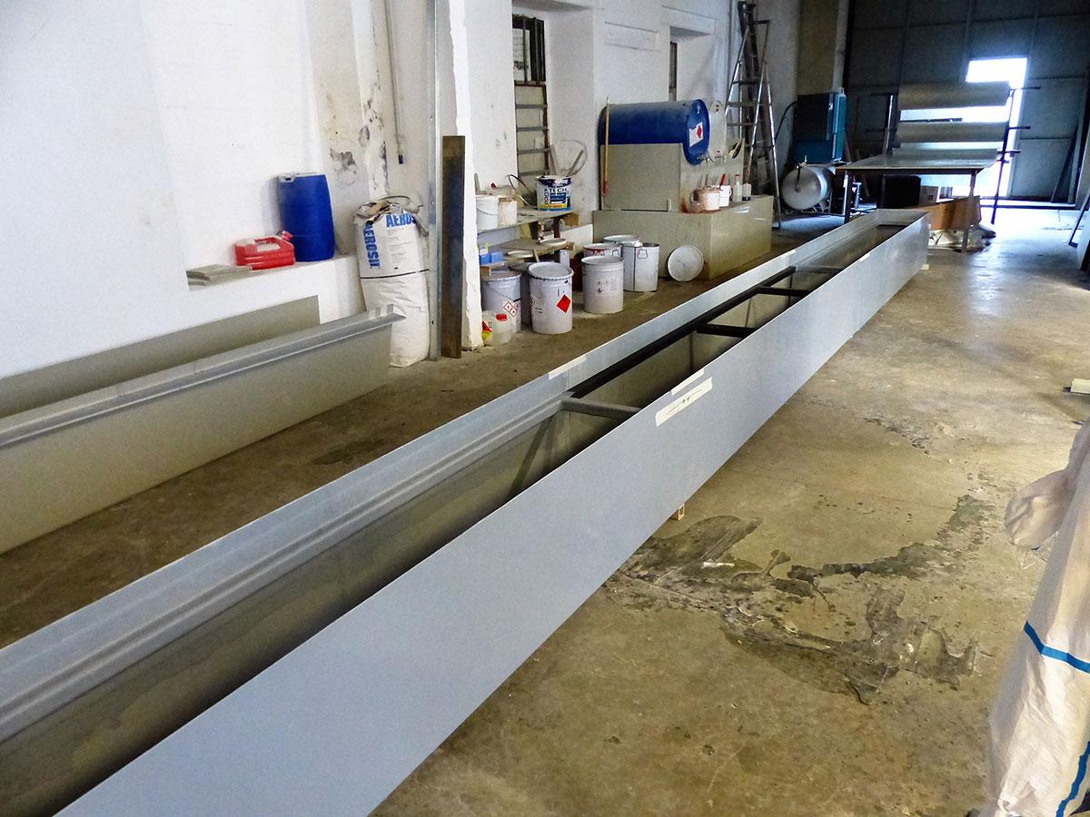 Bac polyester autoporté de 9m de long