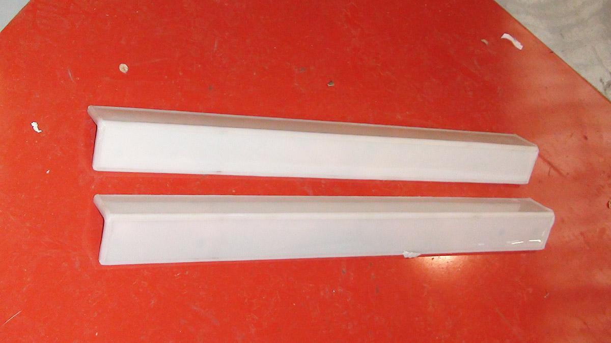 Revêtement PVDF sur cornière en cuivre